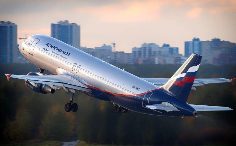 Самолёт российской государственно-частной авиакомпании Аэрофлот
