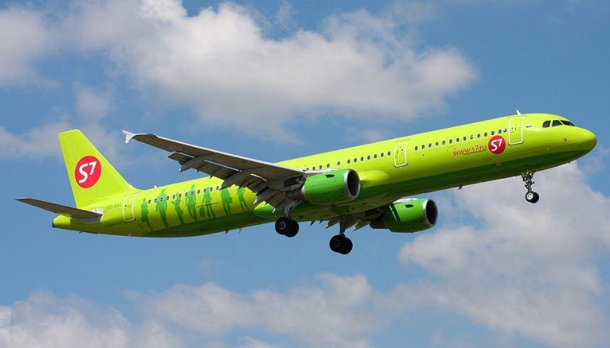 Самолёт авиакомпании S7 Airlines с хабом в Иркутске