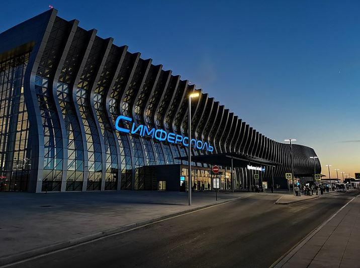 Аэропорт Симферополь в посёлке Укромное в Крыму