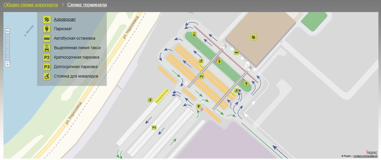 Общая схема аэропорта Жуковский