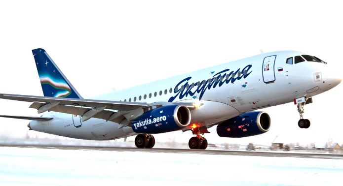 Самолёт российской авиационной компании Якутия