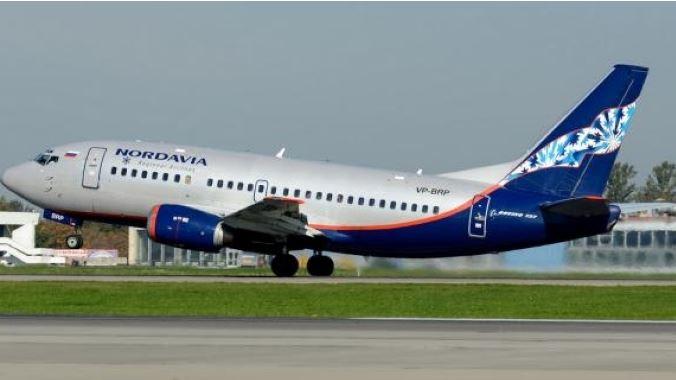 Воздушное судно российской авиационной компании Нордавиа
