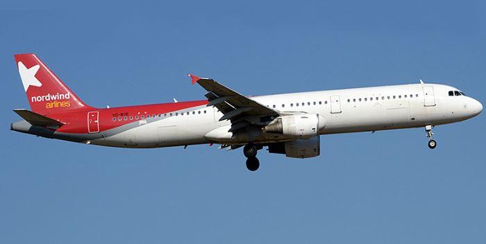 Самолёт российской авиационной компании Nordwind Airlines