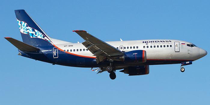 Самолёт российской авиационной компании Нордавиа — региональные авиалинии
