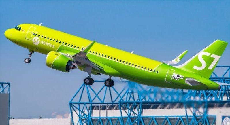 Самолёт российской авиационной компании S7 Airlines