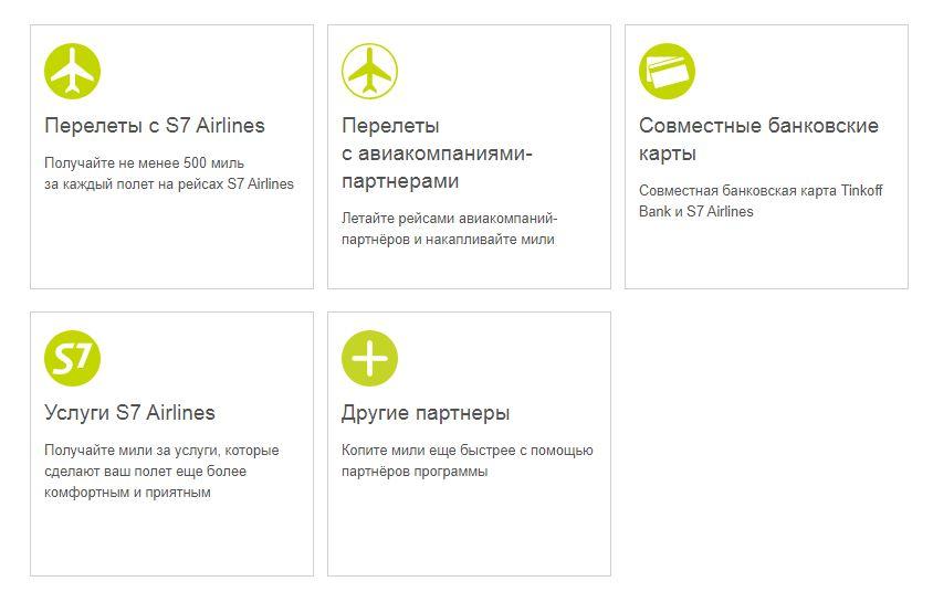 Бонусная программа от авиакомпании S7 Airlines