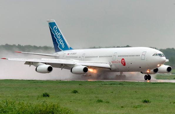 Самолёт российской авиационной компании Сибирь