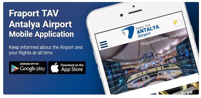 Мобильное приложение международного аэропорта Турции Анталия