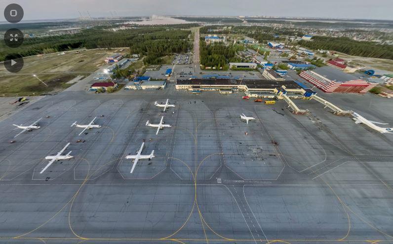 3D панорама международного аэропорта федерального значения Сургут