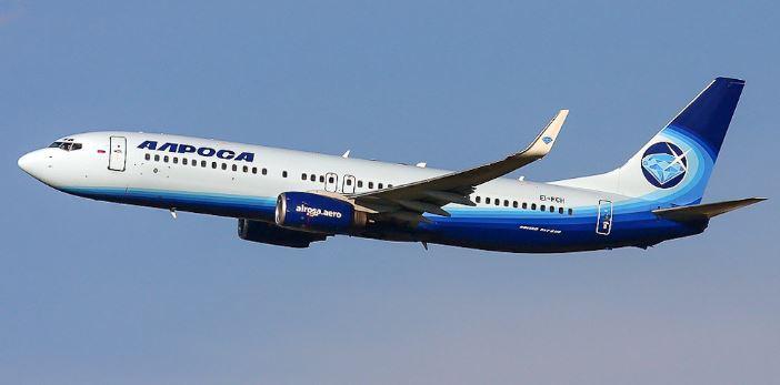 Самолёт российской авиационной компании Алроса